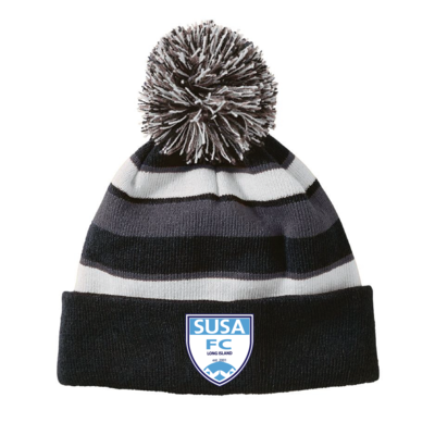 SUSA Shield Logo Holloway Comeback Beanie - Black/White/Graphite
