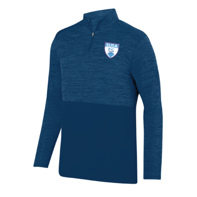 SUSA Shield Logo Augusta Shadow Tonal Heather 1/4 Zip - Adult Sizing Only - Navy