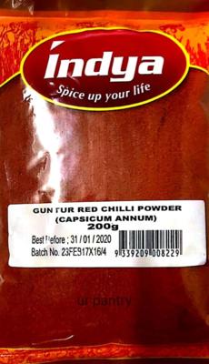 INDYA GUNTUR RED CHILLI POWDER  1 KG
