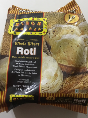 DEEP WHOLE-WHEAT ROTI 30 PCS