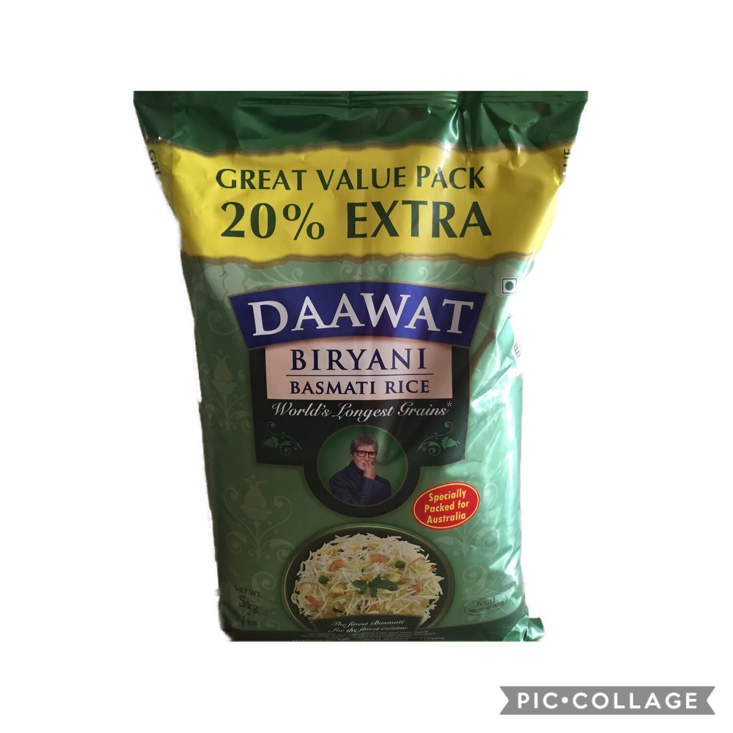 BIRYANI DAWAAT  5 KG ( NOW 1 KG EXTRA - 20% MORE)