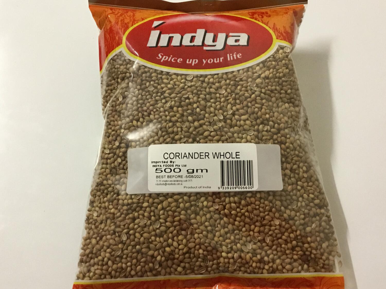 INDYA CORIANDER SEEDS  500 GM