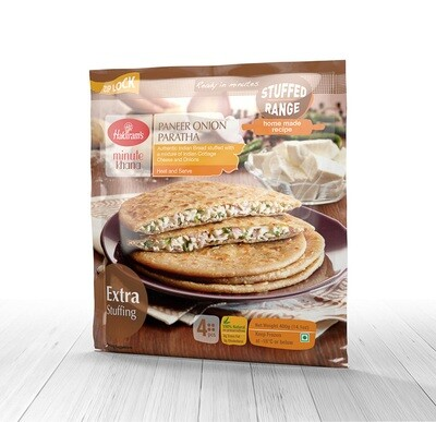 HALDIRAMS PANEER ONION PARATHA (4 PIECES)