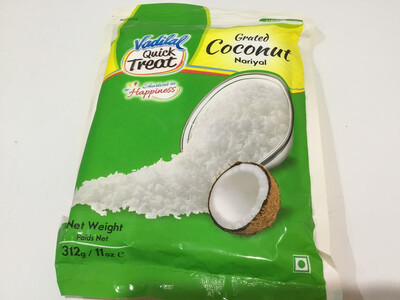 VADILAL COCONUT GRATED 312GMS