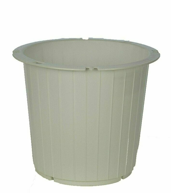 PL8014WT - White Utility Pot With 7.25