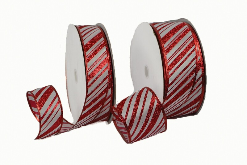 CND40RD - #40 wired red/white striped