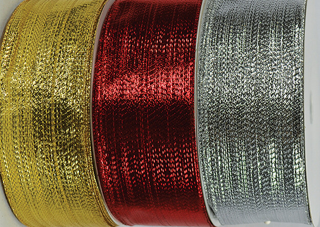 ​SHIM40RED - #40 Red wired shimmer ribbon (Red Only)