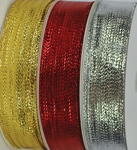 ​SHIM40SILVER - #40 Silver wired shimmer ribbon (Silver Only)