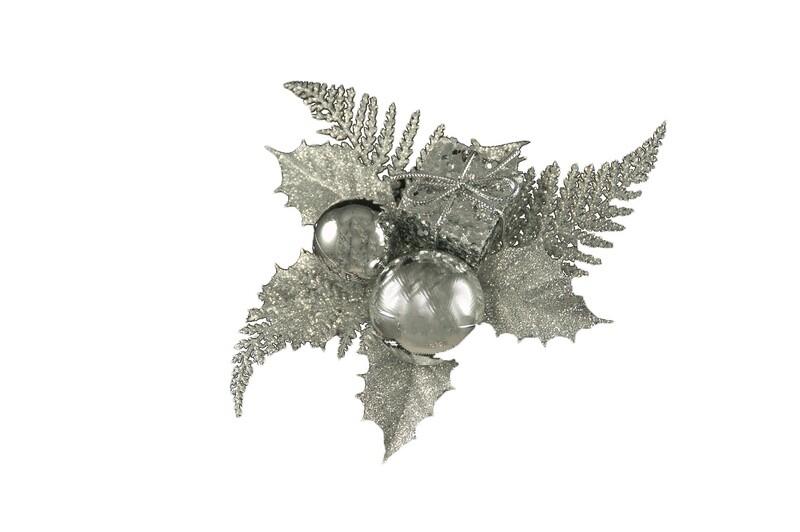 XP1005SIL - Glitter / Ball/ Fern mixed pick