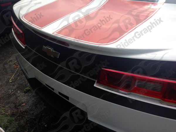 2014 - 2015 Chevrolet Camaro Trunk/Bumper Blackout Decal