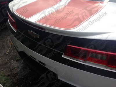 2014 - 2015 Chevrolet Camaro Trunk/Bumper Blackout Decal