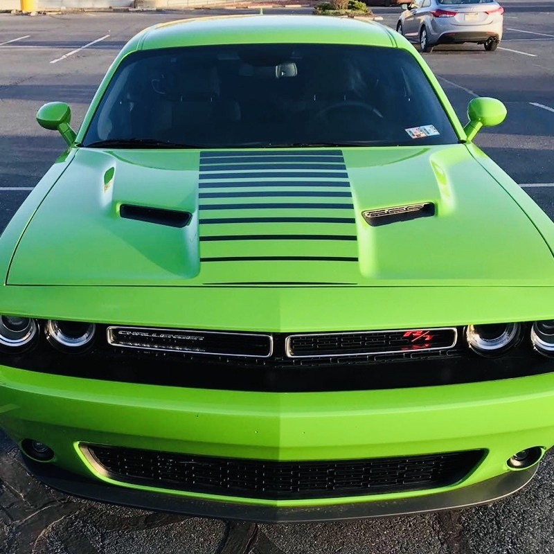 2015 - 2019 Dodge Challenger Center Hood Stripe Vinyl Graphics