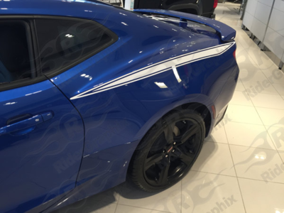 2016 - 2019 Camaro Rear Quarter Panel Stinger Style Stripes