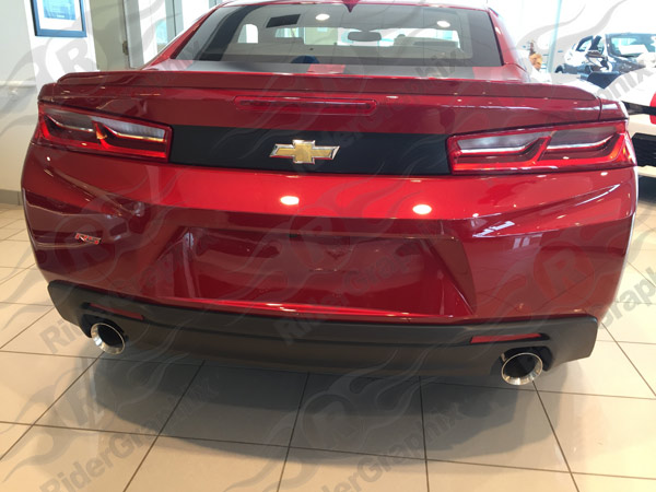 2016 - 2019 Chevrolet Camaro Rear Trunk Blackout Decals kit