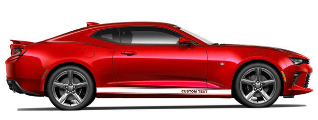 2016 & Up Chevrolet Camaro Rocker Panel Stripes