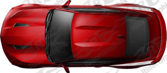 2016 & Up Chevrolet Camaro Rear Upper QP Stripes