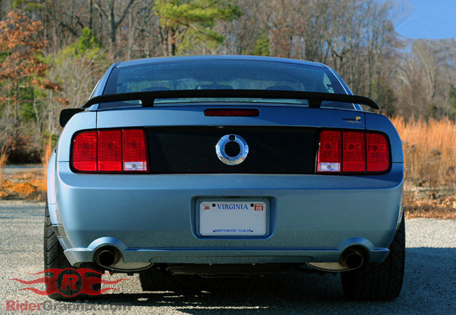 2005 - 2009 Mustang Rear Trunk Blackout Panel Vinyl Graphics