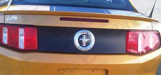 2010 - 2014 Mustang Rear Trunk Blackout Panel Vinyl Graphics