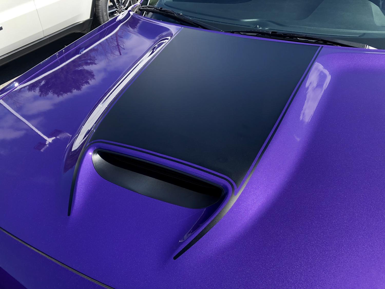 2015 - 2019 Dodge Challenger SRT Hellcat Scat Pack RT GT Hood Blackout Graphics
