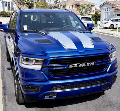 2019 - Up Ram 1500 Rebel / Sport Hood and Tailgate Rally Stripe Kit