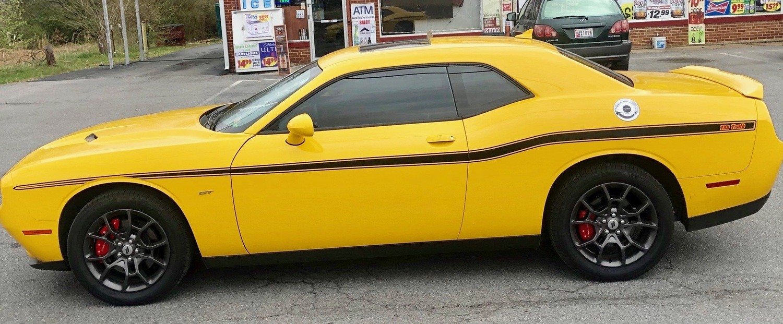 2008 - Up Dodge Challenger Yellow Jacket Style Stripe Kit