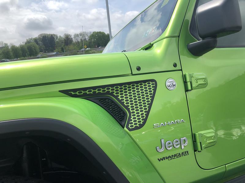 2018 - up Jeep Gladiator JT Wrangler JL JLU Gravity Style Fender Vent Blackout Vinyl Graphics