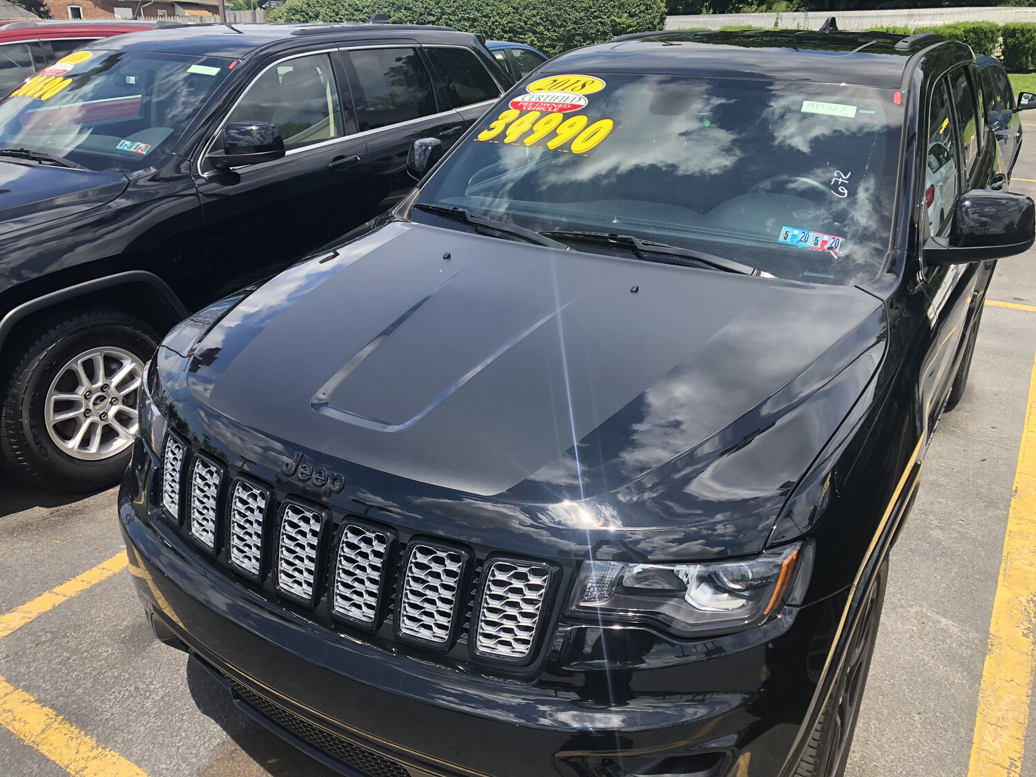 2011 - Up Jeep Grand Cherokee Trailhawk Style Hood Blackout Graphics