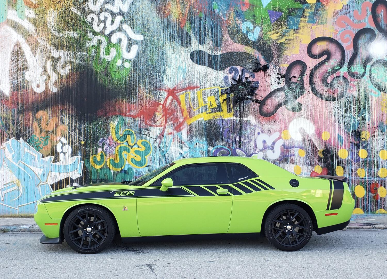 """2008 - Up Dodge Challenger """"2015 Drag Pack Style"""" Side Stripes"""