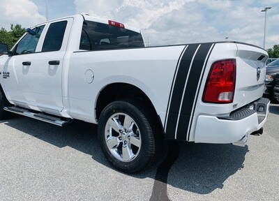2009 - 2019 Classic Dodge Ram Bedside Tail Bumblebee Stripes