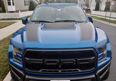 2015 & Up Ford F150/ Raptor Hood Spear Stripes
