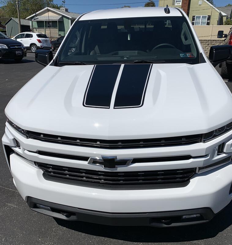 2019 - Up Silverado 1500 Hood Stripes