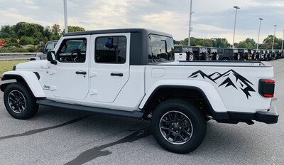Jeep Wrangler JK JL Gladiator JT Small Mountain Range Vinyl Graphics