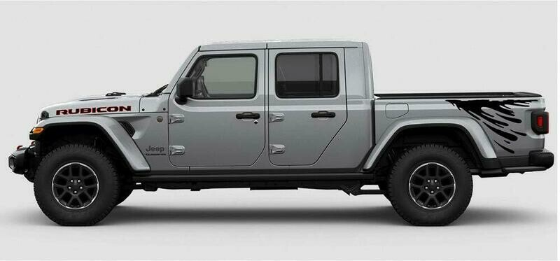 Jeep Gladiator JT Bed Side Drip Style Vinyl Graphics