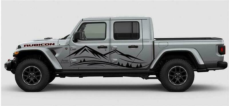 Jeep Gladiator JT Extra Large Mountain Range Vinyl Graphics