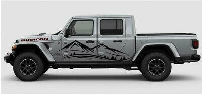 Jeep Gladiator JT Extra Large Mountain Range Vinyl Graphics