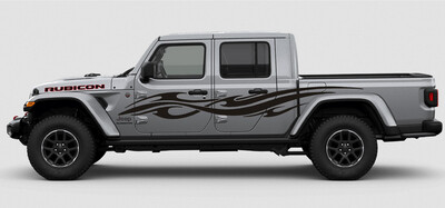 Jeep Gladiator JT Extra Large Side Tribal Style Vinyl Graphics