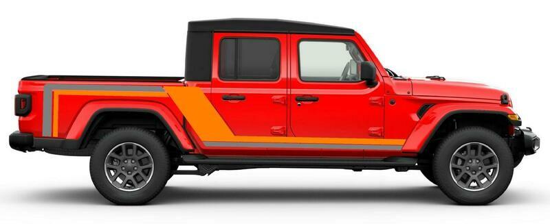 2020 & Up Jeep Gladiator Scrambler Style #2 Side Stripes