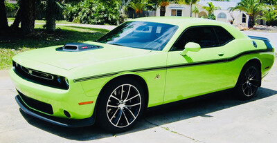 2008 - Up Dodge Challenger Mopar 14 Style Side Stripes