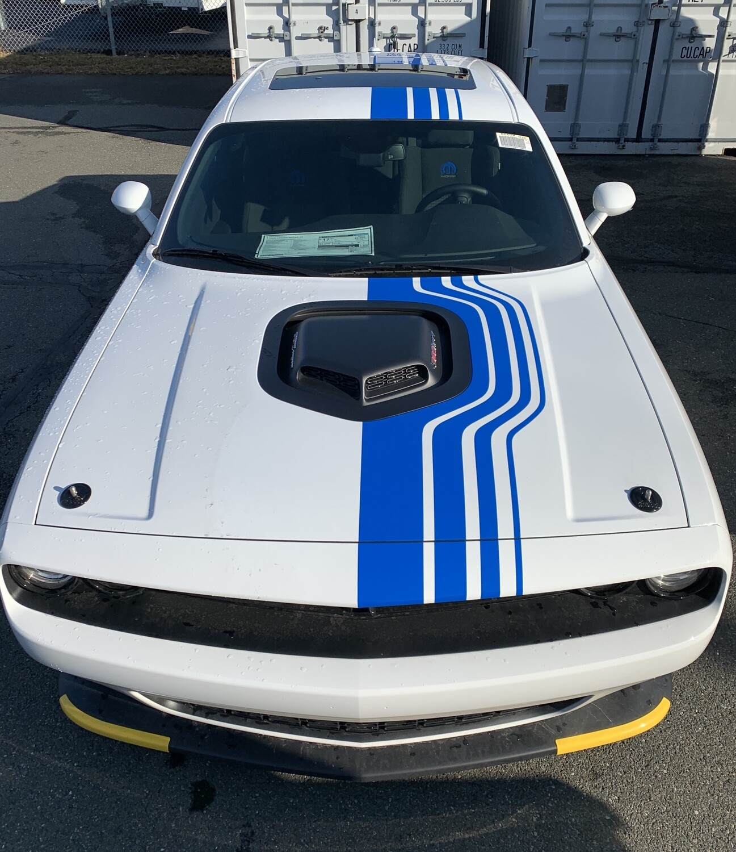 2014 - Up Dodge Challenger Mopar 19 Shakedown Style Rally Stripe Kit