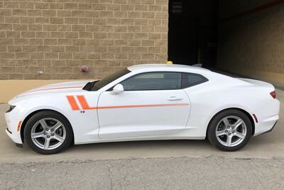2010 - Up Camaro Side Accent Hash Stripe Graphics