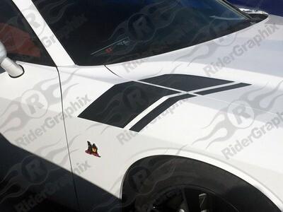 2015 - Up Dodge Challenger Scat Pack Inspired Hood to Fender Stripes