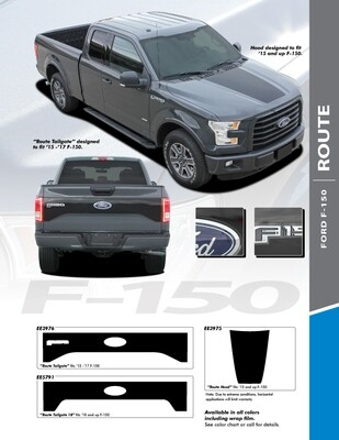 2015 - Up Ford F150 Route Hood Graphics