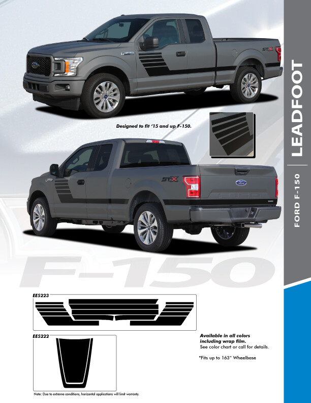2015 - Up Ford F150 Leadfoot Side Stripes