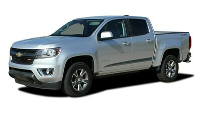2015 - Up Chevy Colorado/GMC Canyon Crew / Extended Cab Raton Rocker Stripe Vinyl Graphics