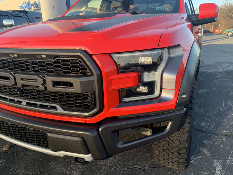 2017 & Up Ford F150/ Raptor Hood Headlight and Taillight Accent Graphics