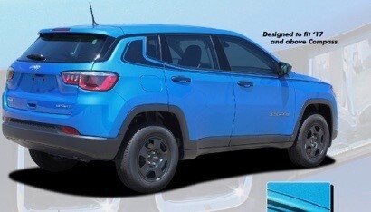 2017 - Up Jeep Compass Side Hockey Style Stripes