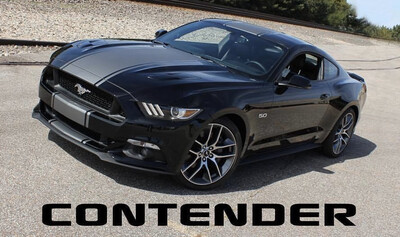 2015 - 2017 Mustang Wide Center CONTENDER Rally Stripes