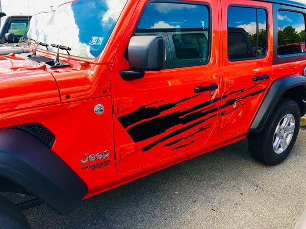 Jeep Gladiator JT Wrangler JK JKU JL JLU Large Splash Graphics