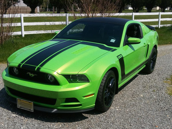 2013-2014 Mustang Boss Style Hood/Side Stripe Kit (Factory 2013 Style)