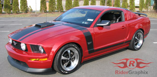 2005 - 2009 Mustang Boss Style Hood/Side Stripe Kit